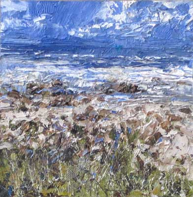 Windy clifftop by John Brenton