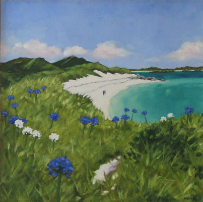 Agapanthus morning, Scilly by Andrea Stokes