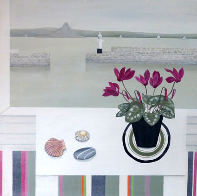 Penzance & Cyclamen  by Gemma Pearce