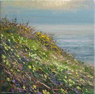 Primroses and violets, Bosigran by Mark Preston