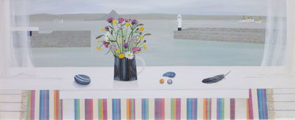 Penzance with Cornish wild flowers  by Gemma Pearce