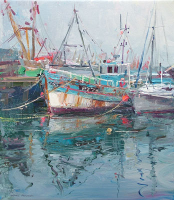 Reflections, Newlyn Harbour by Mark Preston
