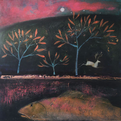 The copper coated trees by Catherine Hyde