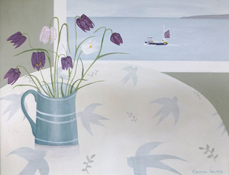 Fritillary and fishing boat  by Gemma Pearce