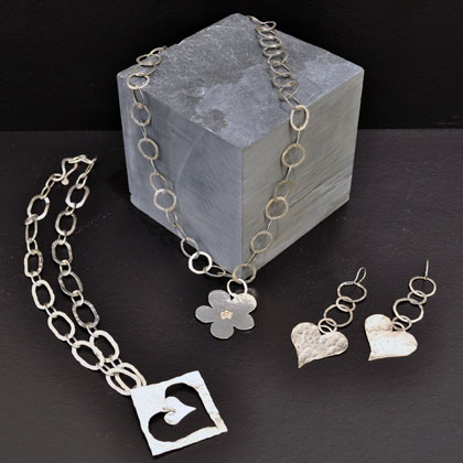 Handmade jewellery<br>Earings from &pound;45 Bracelets and bangles from &pound;85 Necklaces from&pound;140 by Annie Wilson
