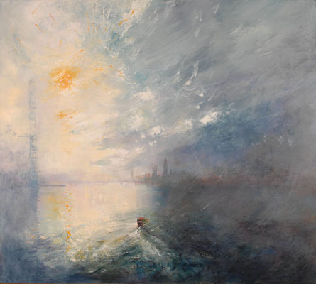 The Thames late afternoon by Rosemary Trestini