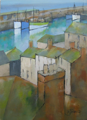 Harbour rooftops by Michael Praed