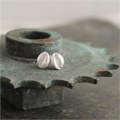 Cowrie studs<br>Earings from &pound;54 by Fay Page