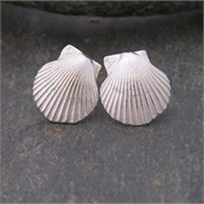 Scallop studs<br>Earings from &pound;54 by Fay Page