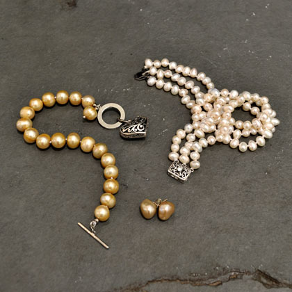 Earrings from £15 Bracelets from £25 Necklaces from £50 by Freshwater Pearls
