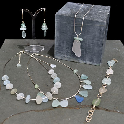 Earings from £39 Bracelets and necklaces from £55 by Vicki Portman