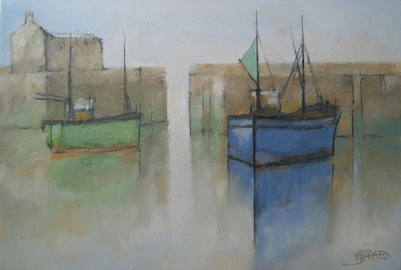 Evening harbour by Michael Praed