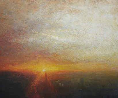 Sunset, St Georges Tower, Vauxhall  by Benjamin Warner
