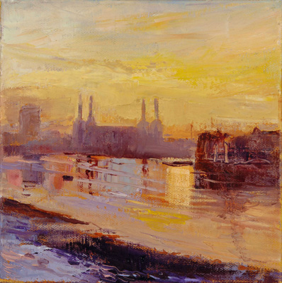 Morning Battersea Power station by Rosemary Trestini