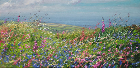 Bluebells and foxgloves by Mark Preston