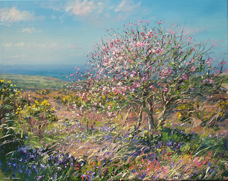 Crab apple and bluebells by Mark Preston