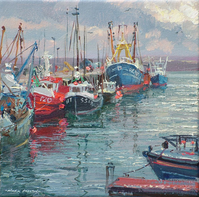 Fishing boats Newlyn by Mark Preston