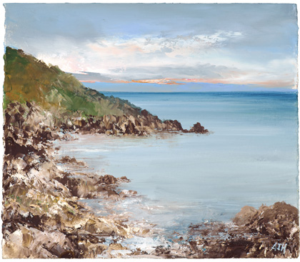 Evening light, Lamorna by Amanda Hoskin