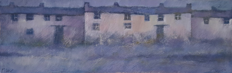 Cottage blue by John Piper