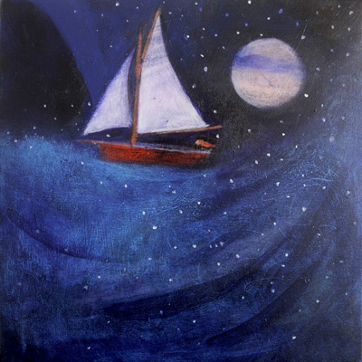 Across the dark sea by Catherine Hyde