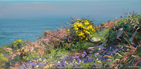 Bluebells and gorse, Chypraze Cliff by Mark Preston