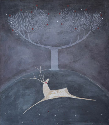 White stag by Beccy Marshall