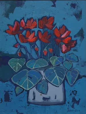 Red cyclamen by Ali Dickson