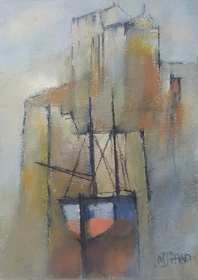 Harbour shapes, blue light by Michael Praed