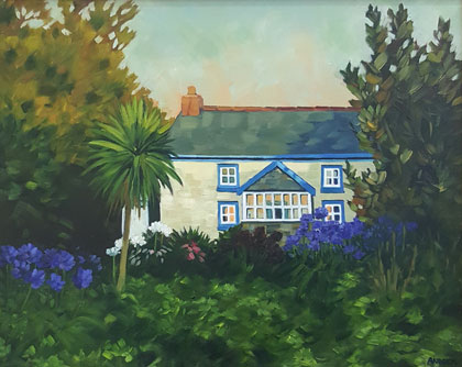 Pereglis Cottage, evening Isles of Scilly by Andrea Stokes