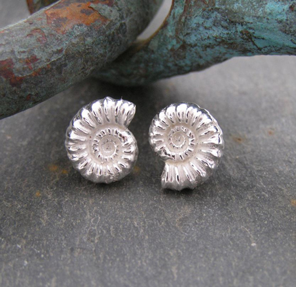 Ammonite studs<br>Earings from &pound;54 by Fay Page