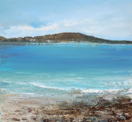 Gentle Sea, Looking towards Bryher from Tresco by Amanda Hoskin